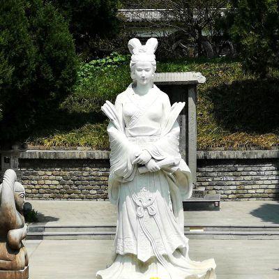 虞姬汉白玉石雕塑像