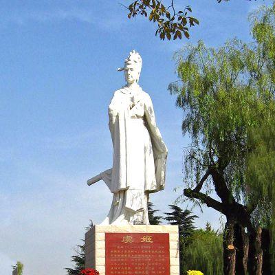 虞美人石雕像