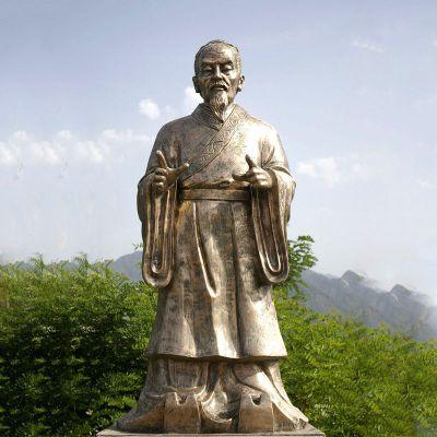 祖冲之纯铜雕像