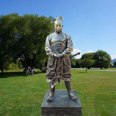 玻璃钢韩信仿铜雕塑