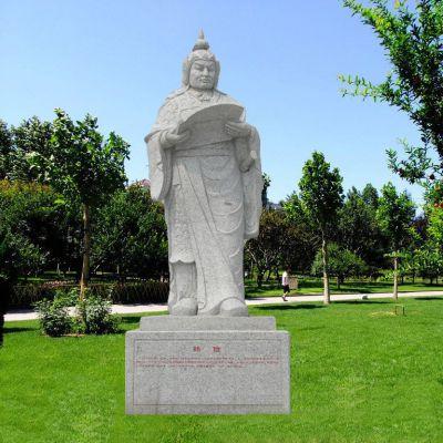 花岗岩韩信石雕像