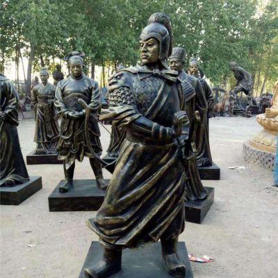 霍去病玻璃钢仿铜雕塑