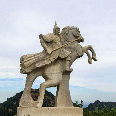 薛仁贵石雕塑像