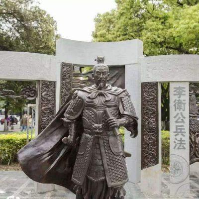李靖铜雕塑像