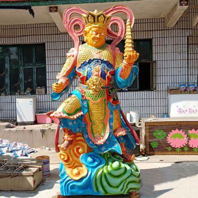 彩绘托塔天王雕塑