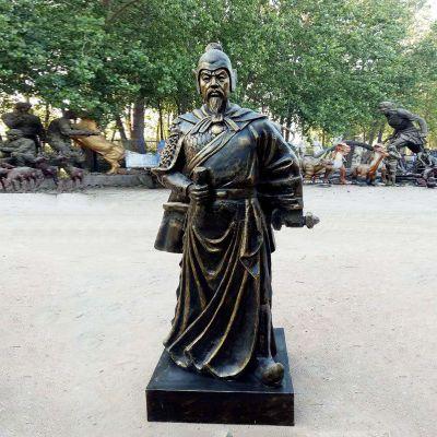 理解玻璃钢仿铜雕塑像