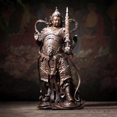 托塔李靖天王铜雕