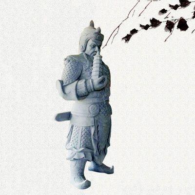 托塔李天王石雕塑