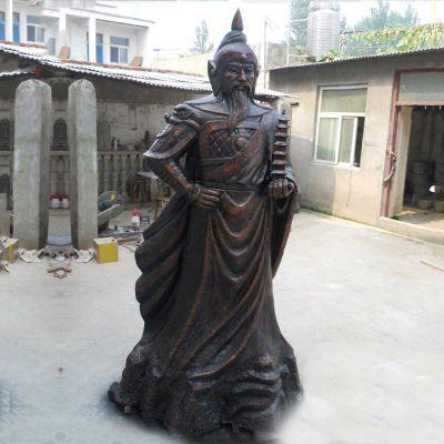 托塔天王李靖铸铜雕塑