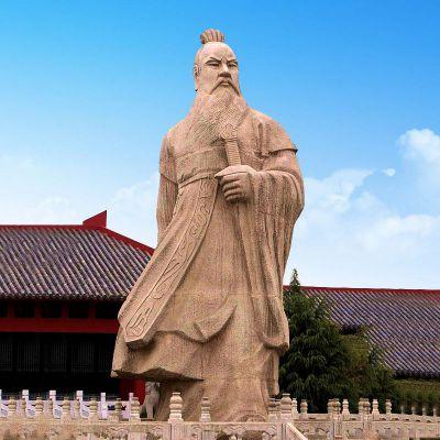 魏武帝曹操砂岩石雕塑像