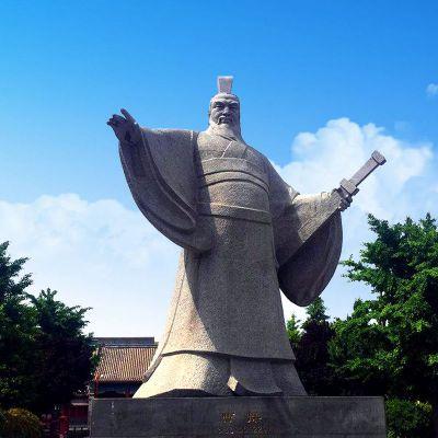 枭雄曹操石雕塑像