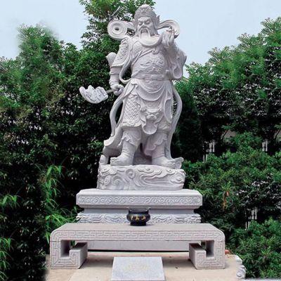 汉白玉关公神像