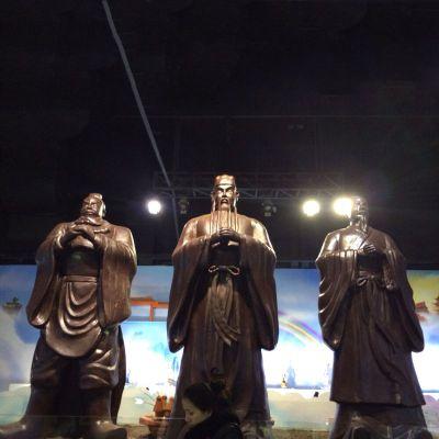 桃园三结义铸铜雕塑