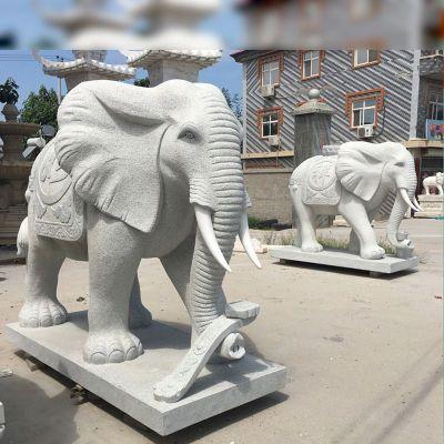 吸财风水大象石雕