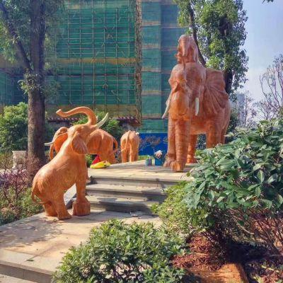 玻璃钢大象雕塑工艺品
