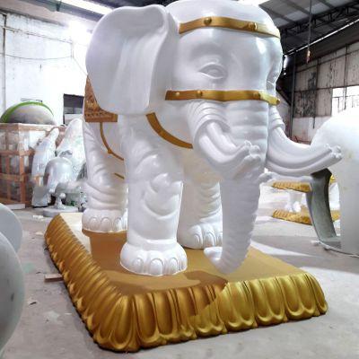 欧式大象玻璃钢雕塑