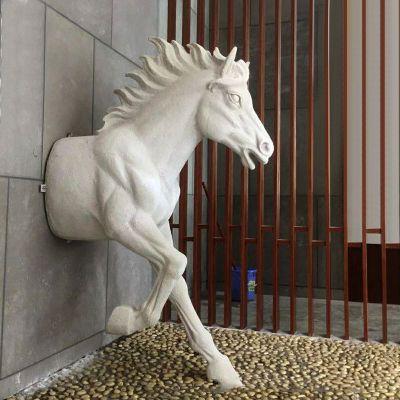 玻璃钢创意马雕塑