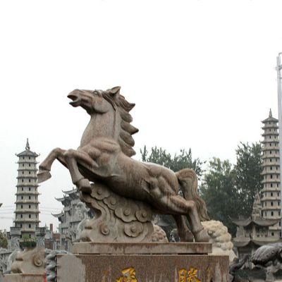飞腾石雕马景观雕塑