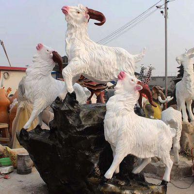 玻璃钢仿真三羊开泰雕塑
