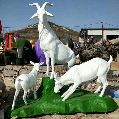 玻璃钢三羊开泰雕塑