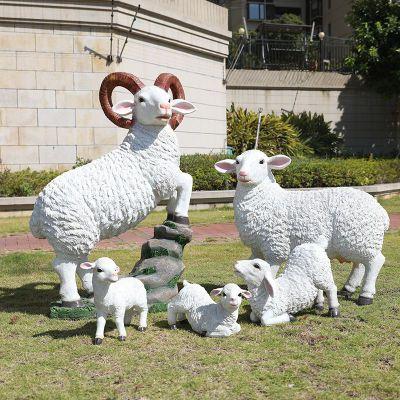 羊雕塑玻璃钢仿真