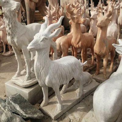 公园摆件石雕羊