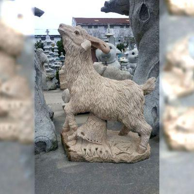 花岗岩羊石雕