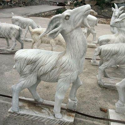羊大理石雕塑