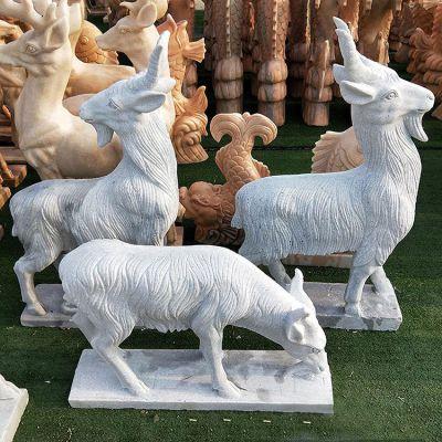 羊石雕汉白玉
