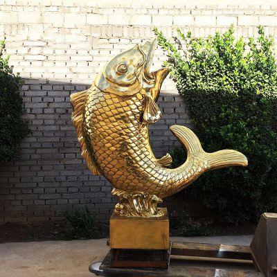 鱼跃景观铜雕