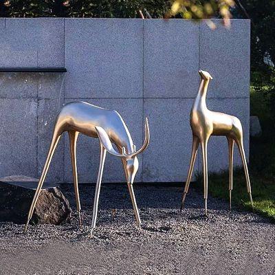 抽象类不锈钢拉丝雕塑