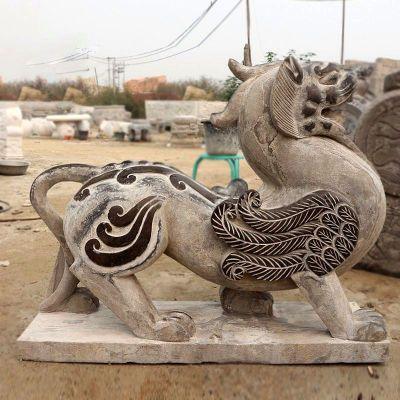 青石仿古狴犴雕塑