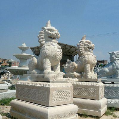 獬豸汉白玉石雕塑