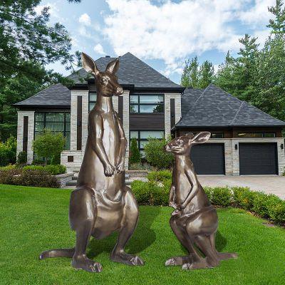 袋鼠玻璃钢雕塑
