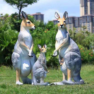 仿真袋鼠玻璃钢雕塑