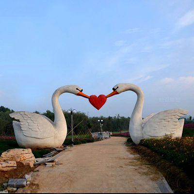 爱心-不锈钢景观天鹅大门