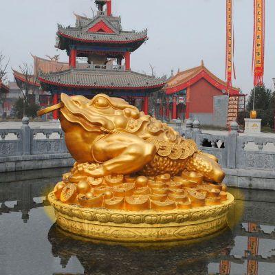 大型鎏金金蟾雕塑