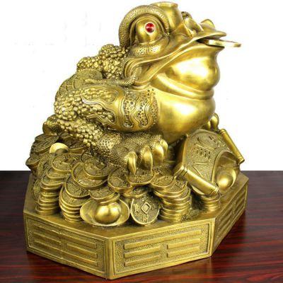 招财金蟾纯铜雕塑