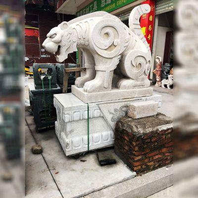 抽象豹子石雕