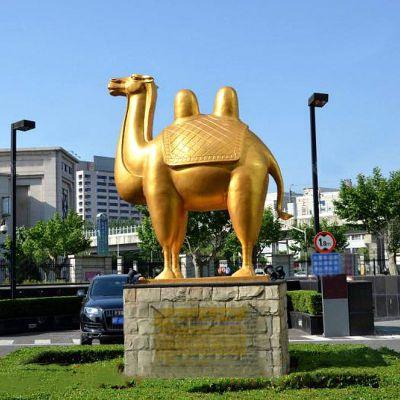 不锈钢喷漆骆驼雕塑