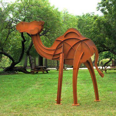抽象骆驼不锈钢雕塑