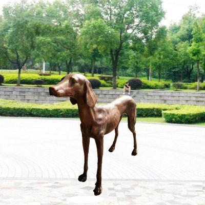 铸铜细犬铜雕狗