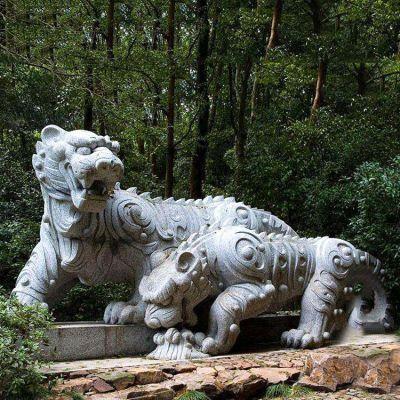 花岗岩抽象石雕老虎