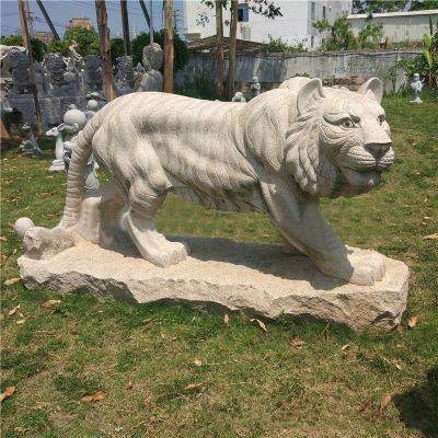 老虎石雕花岗岩雕塑