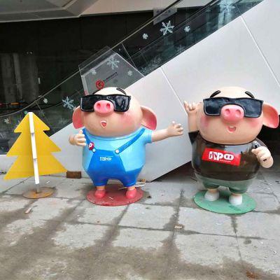 唱歌的卡通猪商场美陈