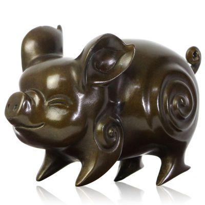 抽象猪铜雕塑