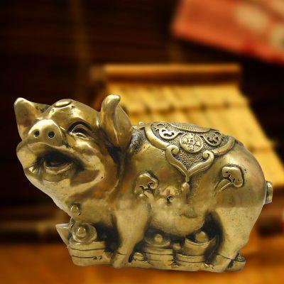 招财金猪铜雕