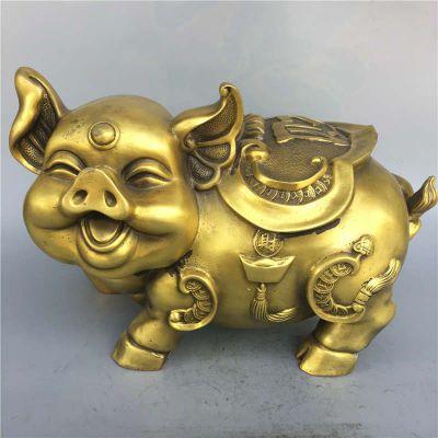 招财卡通猪铜雕