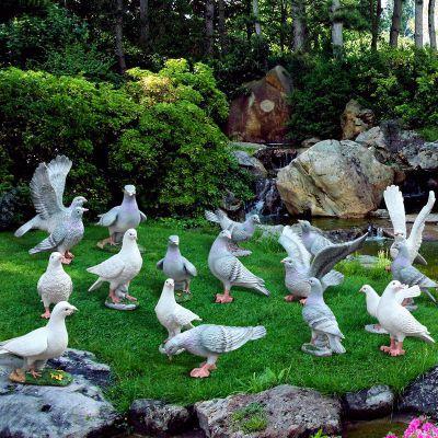 玻璃钢仿真鸽子雕塑