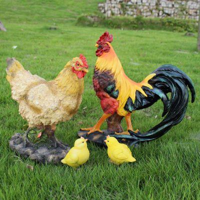 玻璃钢仿真鸡雕塑